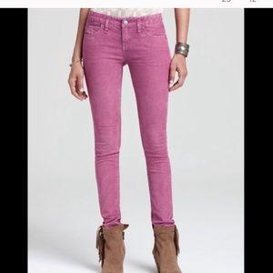 Free People pink corduroy skinny pants